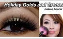 Holiday Golden Green Make Up Tutorial