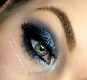 I haven't done an ocean blue look in quite some time so I decided to do so on my last day of break :) This really all came about after contemplating a green or blue shadow look and after reviewing the Too Faced Chocolate Bon Bons Pallet and seeing Earl Grey, I was sold. Details all on my blog http://theyeballqueen.blogspot.com/2016/01/ocean-blue-smokey-eye-makeup-tutorial.html