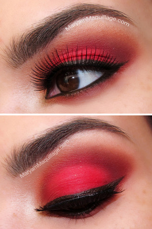 Red Eyeshadow if you DARE!!! http://www.maryammaquillage.com/2013/01/rebel-valentine-nail-art-makeup.html