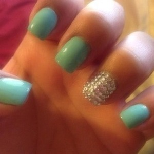 Serene color and rhinestones