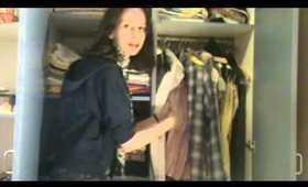 Closet tour + Travel series: episode #4 clothes :)