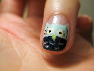 Hoot Hoot! My owl nail.