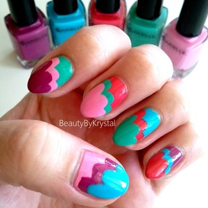 Brilliant Clouds nail art with Barielle's Brilliant Colors collection! MORE PHOTOS: http://tinyurl.com/krs3cdp