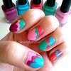 Brilliant Clouds nail art