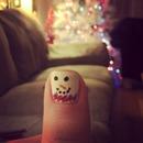 Snowman nail