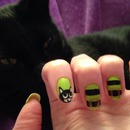 Halloween witchy cat