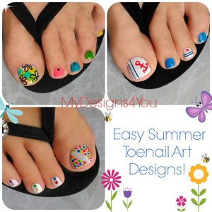 3 Easy Summer Toenail Designs.