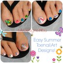 3 Easy Summer Toenail Designs