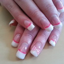 french polish with a bow