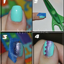 A different style of gradient nail art-photo tutorial