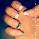 White and green tips