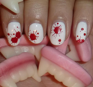 My Halloweennails for 2011: http://nailsbystephanie.blogspot.com/2011/10/notd-blood-spatters.html