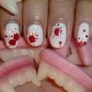 Blood Splattered Nails