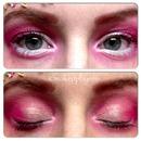 pink sprinkles makeup look