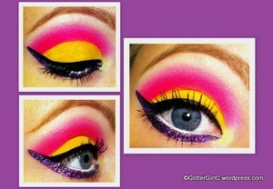 Pink, yellow and purple :)