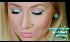 Easy Spring Seafoam Green Drugstore Makeup Tutorial