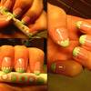 Spring Mint Tip Nails