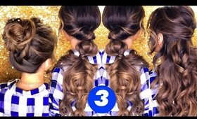 3 LAZY Cozy HAIR Styles ★ Easy Holiday Hairstyles with Curls