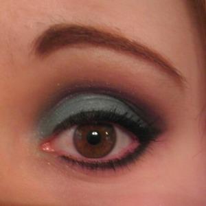 Teal and purple look using makeup geek eyeshadows