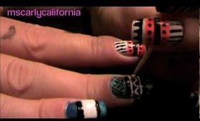 Native American/ Tribal inspired nails part 2