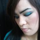 Lady with Blue Eye Shadow