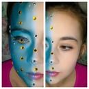 Avatar inspired make-up.