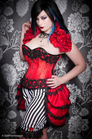 My most recent shot, did a strong vampy look to suit the burlesque wear