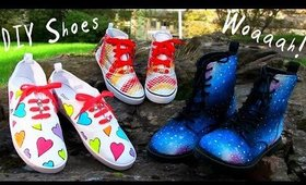 3 Awesome DIY Shoes Projects (High Top Sneakers, Regular Sneakers and Boots)