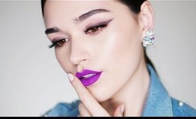Smudged Liner and Violet Lips