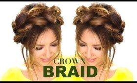 Pull-Through CROWN BRAID UPDO Hair Tutorial  ★ Easy Braids HAIRSTYLES