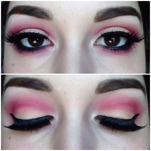 Pink and peach