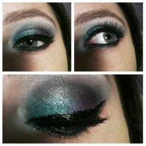 A sultry blend of dark teal and purple