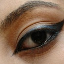 normal liner with a pop of blue