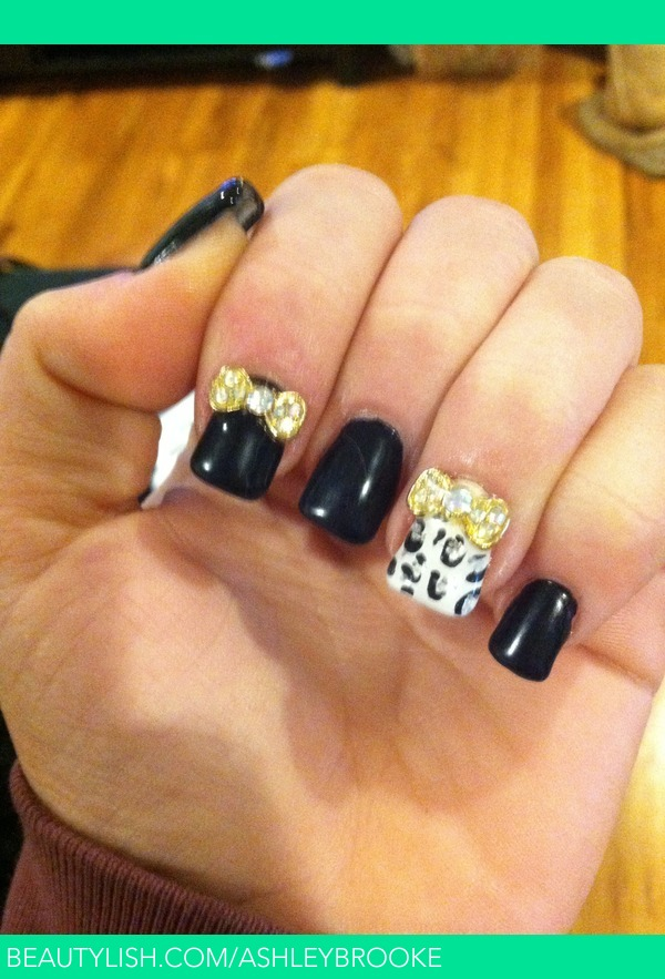 Bows and cheetah print nails | Ashley S.\'s (Ashleybrooke) Photo ...