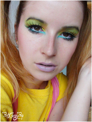 Jeremy Scott runway inspired make up