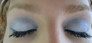 """tarte for true blood palette- """"the true death"""" on lid, """"moss"""" on crease"""" and """"fairy"""" on brow bone"""