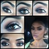 Soft Smokey Brown eyes with a Pink Lip