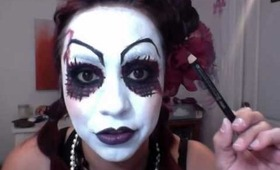 Goth: Clown + Doll Makeup Look 2013