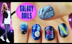 5 Galaxy Nail Art Designs and Techniques!