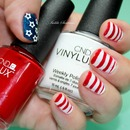 Cnd Vinylux July 4 Red / White / Blue / Stars / Usa