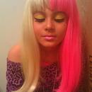 Nicki Minaj eyes closed