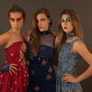 Makeup for fashion photo shoot: all three models