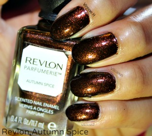 This was two coats of Revlon Autumn Spice without topcoat♥