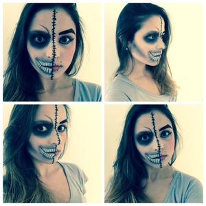 Double Personality Makeup Art