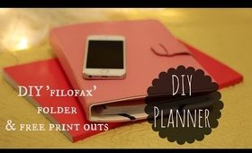 DIY planner with free printables and DIY filofax cover - BACK TO SCHOOL