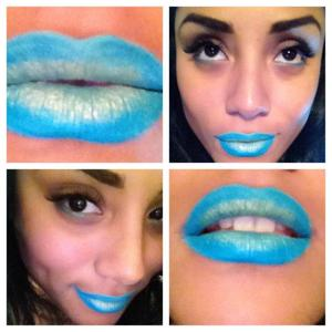 Lip color using eyeshadow