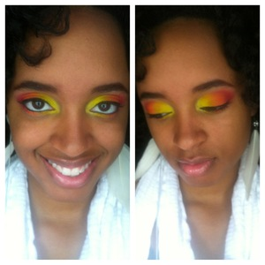 Just a fun summer idea I had for gradient eyes. I was inspired by the bright sun on a summer day.