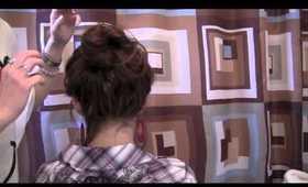 """5 min HAIR TUTORIAL: """"messy high bun bow thing"""""""