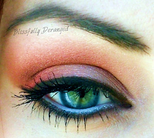 My Beauty Addiction in Tangerine, Lemon Zest, and Red Poppy were also used in this look.