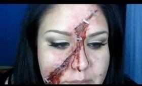 Halloween Tutorial - Stapled Wound! Special FX